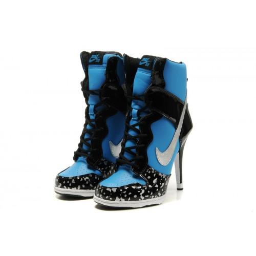 Adidasi tocuri Nike albastrii