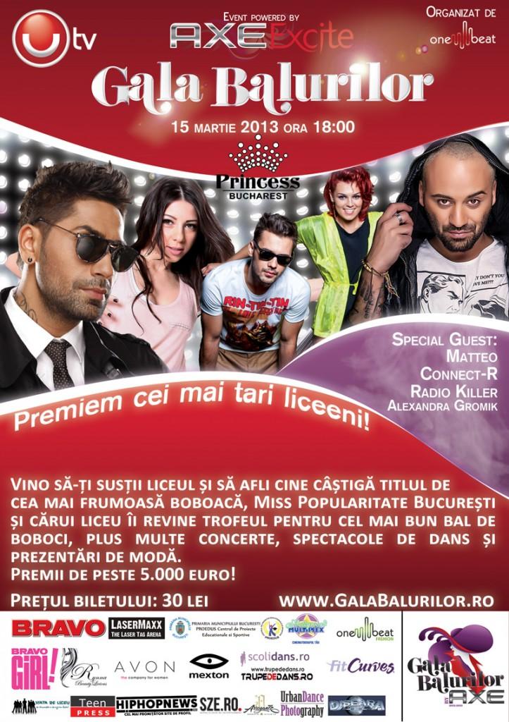 Afis Gala Balurilor 2012 - 2013