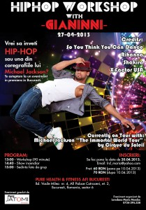 Hip Hop Workshop cu Gianinni Moreira in Bucuresti