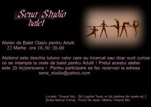 Atelier de balet clasic pentru adulti