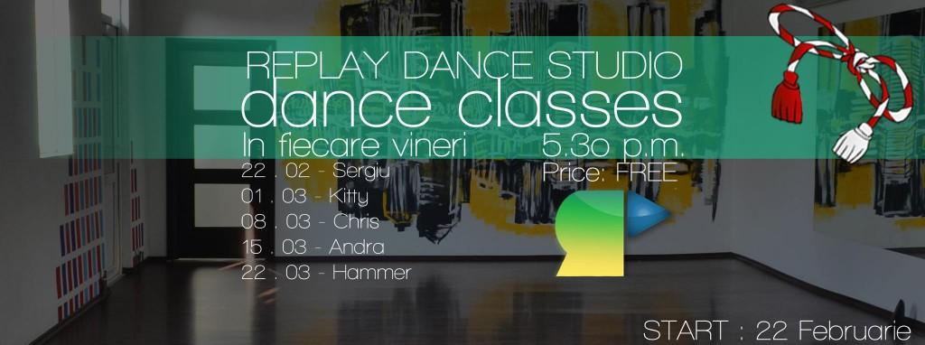 Cursuri de dans Gratuite la Replay Dance Studio Oradea