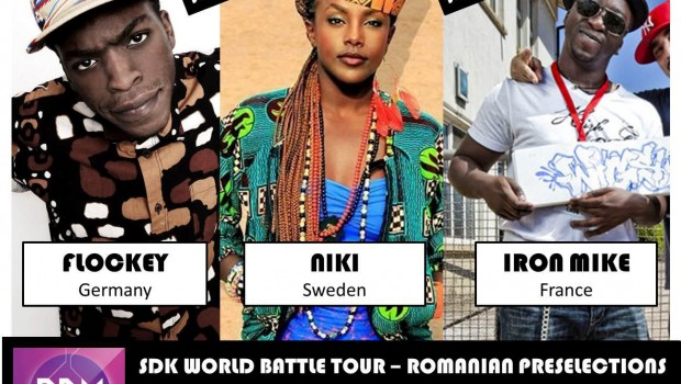 Afisul concursului de dans SDK World Battle Tour - Romania PReselections