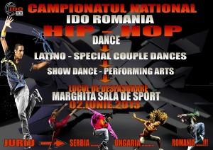 Afisul Campionatului National de dans Hip Hop, Latino si Show Dance Marghita 2013