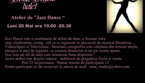 Afis Atelier de Jazz Dance la Sena Studio Bucuresti