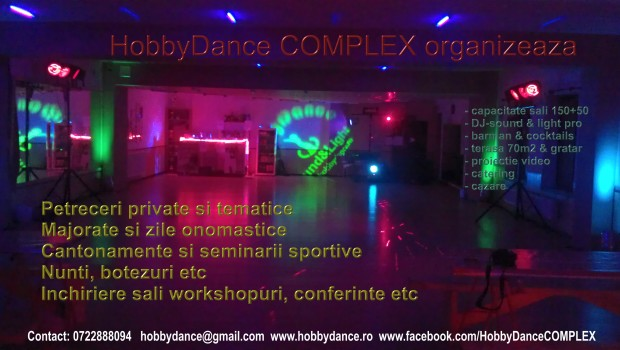 Afis Clubul de dans sportiv HobbyDance Bucuresti