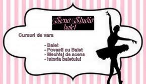 Afis cursuri de vara pentru copii - balet la Sena Studio