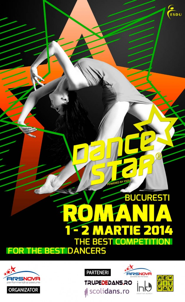 Afis ESDU DanceStar Romania 2014